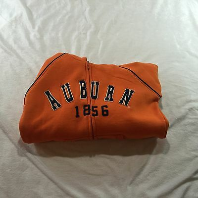 Youth NCAA Auburn Tigers Full Zip Hooded Jacket Orange Sz Small NWT By Colosseum