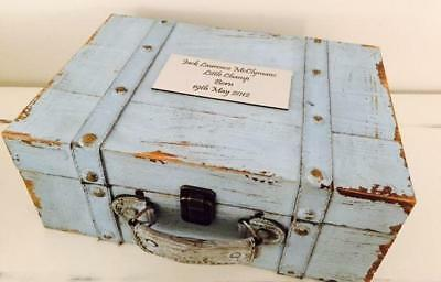 Wooden Vintage Wedding Wishing Well Personalised Suitcase Prop Treasure Chest
