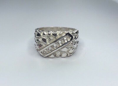 2.5mm Round Channel Sterling Silver RESIZED Pre-Notched Ring Setting Size 8-12