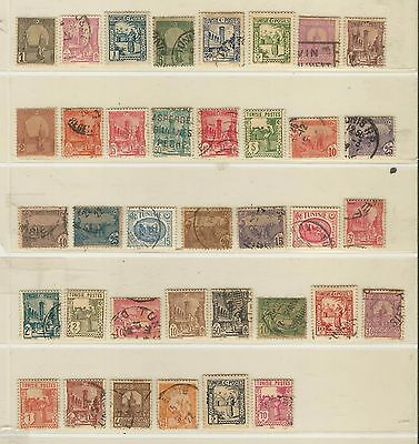 Tunisia: 30 different stamps, earlys good values, hinged, used. TUN03