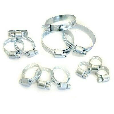 12 Pack Hose Jubilee Clips Clamps Assortment Set Clip Kit Pack 6Mm - 51Mm
