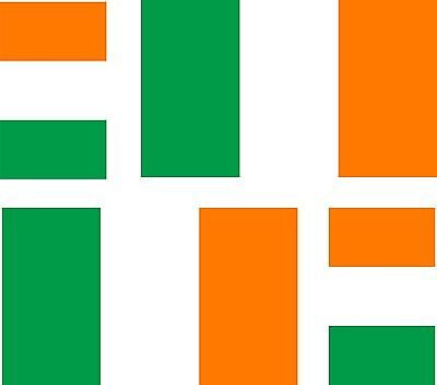 4x ireland irish flag decals sticker bike car vinyl helmet