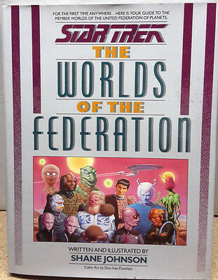 Star Trek Worlds of the Federation Hardcover Reference Book-FREE S&H (C5902)