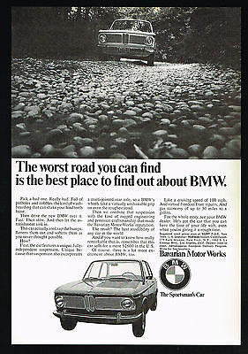 1968 BMW 1600 Car Photo Best Worst Vintage Print Ad