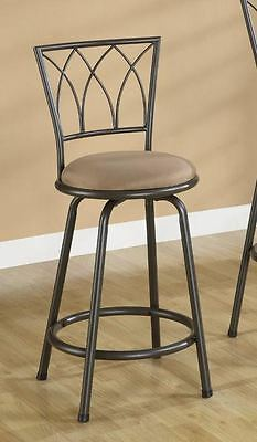 Brown Metal Swivel Counter Height Bar Stool 24 Inch by Coaster 122019 - Set of 2