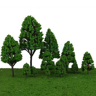 12 Train Layout Model Trees 1:50-500 O-Z Scale Park Forest Diorama Scenery