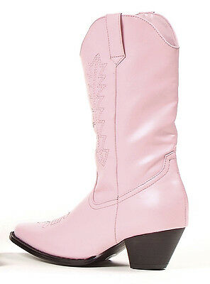 Rodeo Pink Boots Child Country Girls Fancy Dress Halloween Cowgirl Costume Shoes