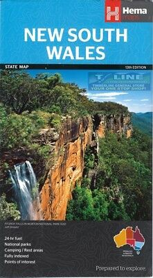 Hema Maps New South Wales State Map 13th ED