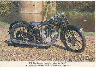 Sunbeam 1930 single cylinder Modern colour postcard by Burdalls Gravy Salt