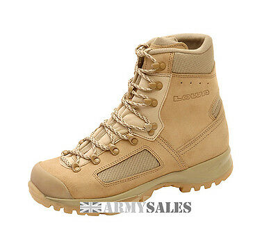 Genuine British Army Lowa Elite Desert Assault/Combat Boots Various Sizes NEW!