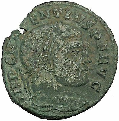 Maxentius Constantine the Great Enemy Ancient Roman Coin Temple of Roma i52845