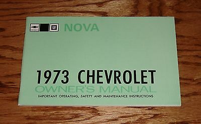 1973 Chevrolet Nova Owners Operators Manual 73 Chevy