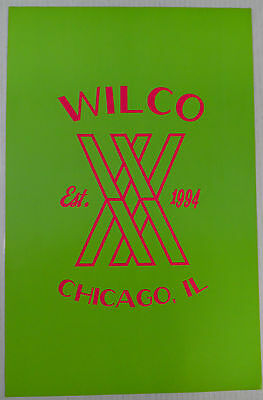 "Wilco - Lime Green/Pink 2 Sided Promo Poster * 11"" x 17"" Limited Edition"