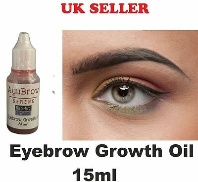 Eyebrow Rapid Growth Oil Thicker Longer Brows Regrow For ThinBrow Natural 15ml
