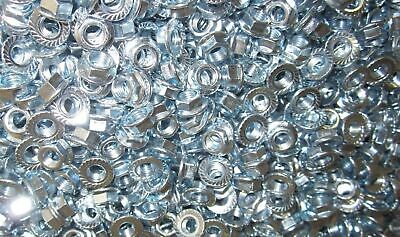 M7-1.0  Metric Serrated Flange Lock Nut Steel Zinc Plated 180pc