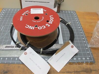 95 Feet Plastic Coated 7x7 Military Wire Rope 920 Pound Test 0.667 O.D. / 0.10 I