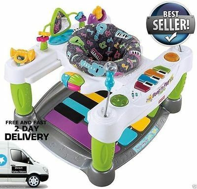Fisher Price Superstar Step n Play Piano Baby Music Seat Walker Activity Center