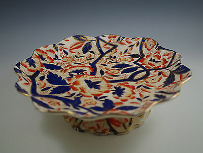 C.1790, Xviii Century Crown Derby  Imari Cake Stand, Footed, Tazza  - Very Rare