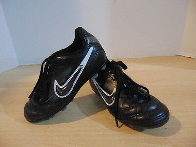 Soccer Shoes Cleats Childrens Size 10 Nike Black Silver