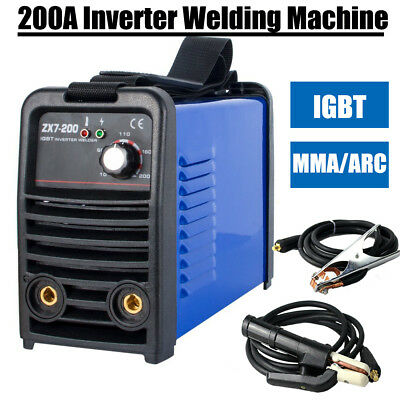 200A Inverter IGBT arc welder mma welding machine & welding helmet (IN UK Stock)