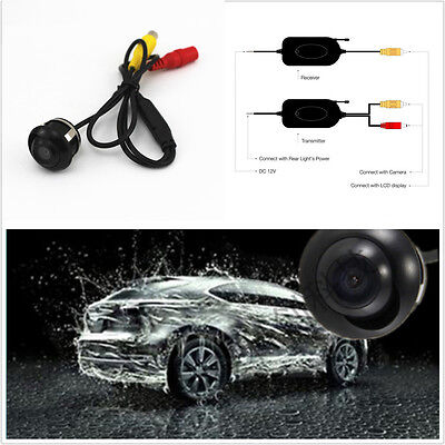Wireless 2.4Ghz Video Transmitter Receiver + 360° CCD HD Backup Parking Camera