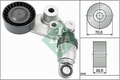 Aux Belt Tensioner fits SSANGYONG REXTON 2.7D 2004 on 534029710 Drive V-Ribbed