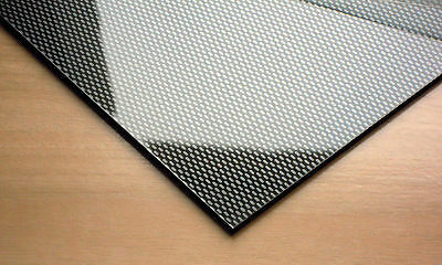 3mm ABS Carbon Fibre Effect Sheet [7 Sizes] Model Car Trim Plastic Vacuum Form