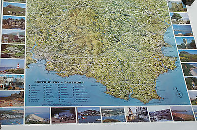 3D Aerial Panoramic Map of South Devon & Dartmoor No2 Unusual Gift Idea