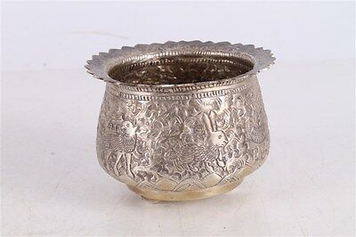 Rare Unique Antique Old Hand Made Engraved 72gr. Silver Cup Bowl.
