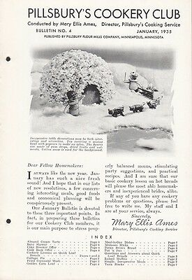 Pillsbury's Cookery Club Bulletin No. 4 January 1935 Quick Loaf Breads Recipes