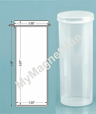 50 Pack 2 Dram Sm CLEAR Lacon Micro Vial Hinged Lid Bottle Tube Containers USA
