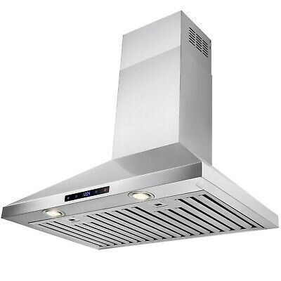 """30"""" Stainless Steel Wall Mount Range Hood Touch Control Stove Kitchen"""