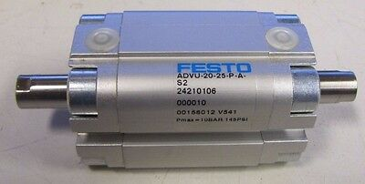 """Festo Advu-20-25-P-A-S2 3 13/16"""" Overall 1"""" Stroke Air Pneumatic Cylinder New"""