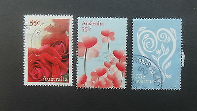 Australian Decimal Stamps: 2009 With Love 3 x 55c Sheet Used