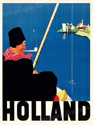"""1930s """"Holland"""" Vintage Style Old World Dutch Travel Poster - 18x24"""