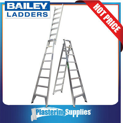 Bailey 2.4m - 4.4m 150kg Pro Dual Purpose Ladder with Tree/Pole Support FS13572