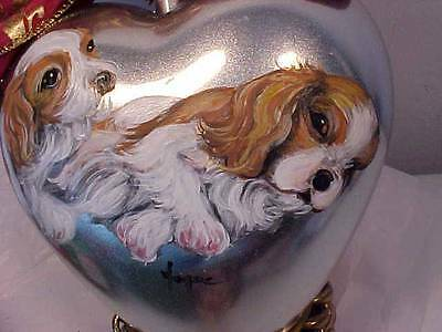 Cavalier King Charles Handpainted Christmas Ornament Looook!