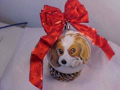 Cavalier King Charles Handpainted Christmas Ornament