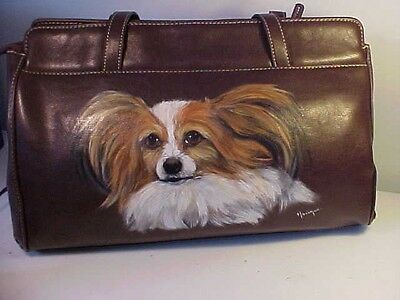 Papillon Handpainted Handbag Magnificent!