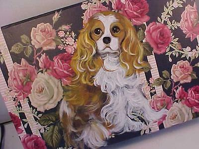 Cavalier King Charles Handpainted Decorative Roses  Box