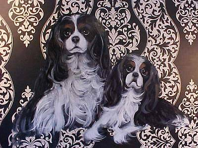 Two Cavalier King Charles Handpainted Box