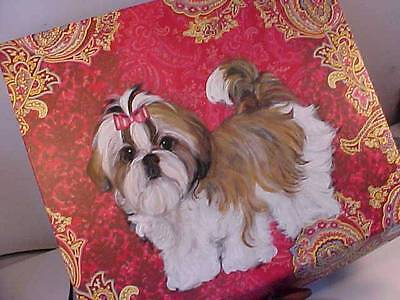 Shih  Tzu Handpainted Box Super! Best Shih Tzus On Ebay!