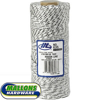 Marshalltown 16588/635 White Flecked 500ft/152m Braided Bricklayers Mason Line