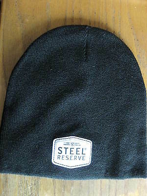 Steel Reserve Beer Black Winter Knit Cap Beanie New