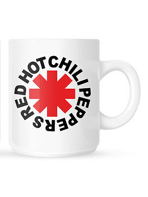 Official Red Hot Chili Peppers - Asterisk Logo - Boxed White Ceramic Mug