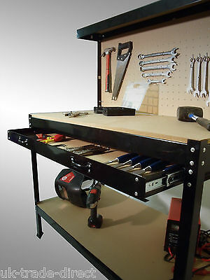 Heavy Duty Metal Workbench For Garage Or Workshop Station Pegboard New Storage