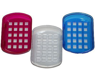 Acrylic Bath Collection Soap Dish Countertop Accessory Large Suction Soap Dish