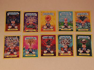 2011 GARBAGE PAIL KIDS Flashback Series 2 FB-2  Complete YELLOW Adam Mania Set