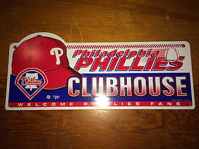 Philadelphia Phillies Vintage 1998 Clubhouse Sign Veterans Stadium