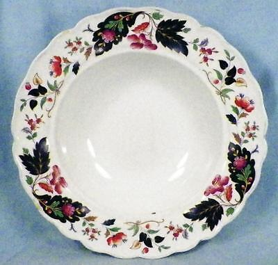 Grindley Strathcona Soup Bowl Marlborough Royal Petal Blue Leaves Berries As Is